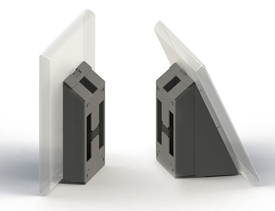 Wall mount straight/angled